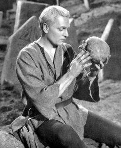 Olivier playing Hamlet